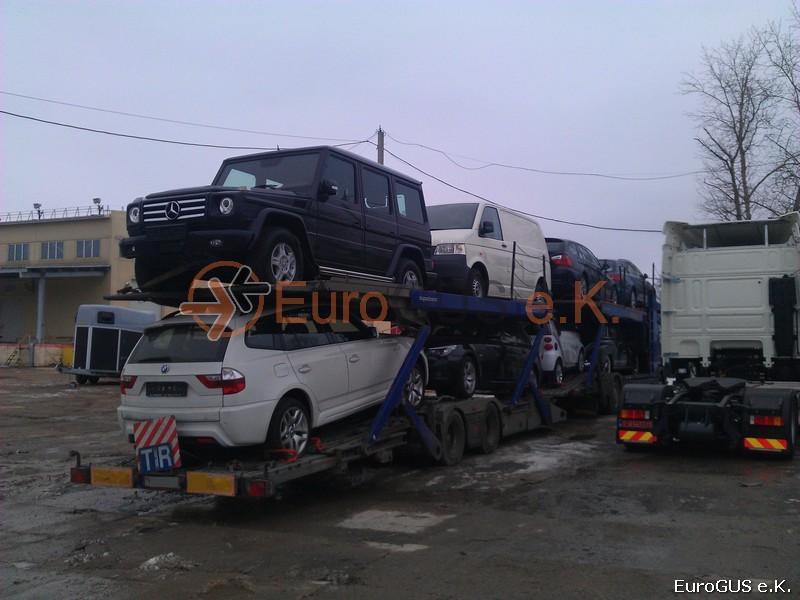 Autotransporter nach Russland. Fahrzeugüberführung.